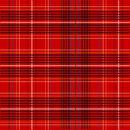 Red Tartan Fabric Texture photo