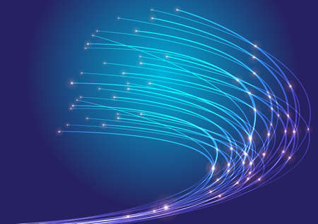 beams: Optical Fibers Stock Photo