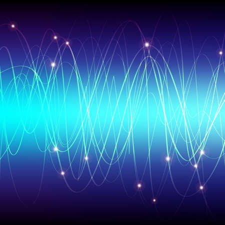 optical fiber: Glowing Waves Stock Photo