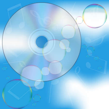 Bubbles and CD photo