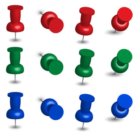 push pin icon: Set of Office Pins