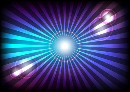 Blauwe en violette stralen