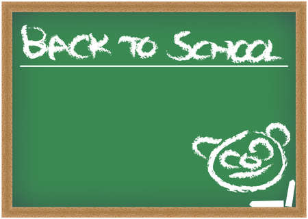 Blackboard with Back to School sign Stock Photo - 7656284