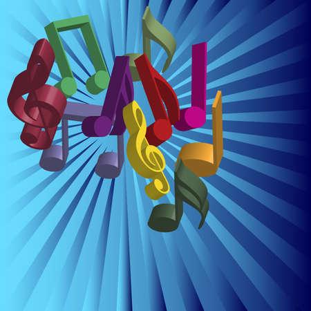 simbolos musicales: Fondo de m�sica