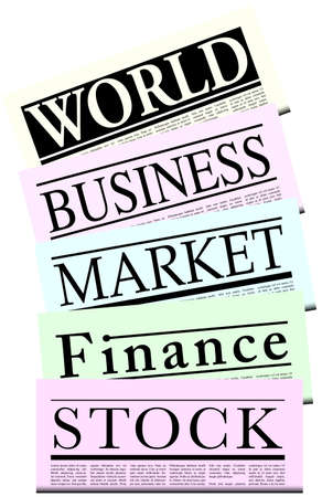 Illustration of Fictitious Financial Newspapers Stock Illustration - 7695459