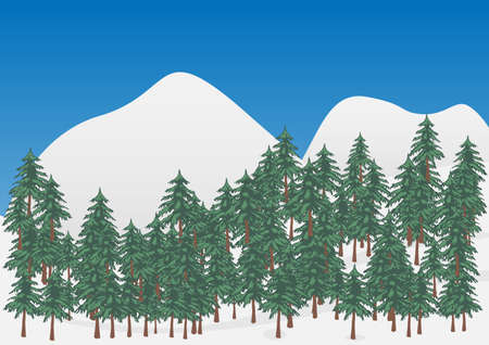 snowcovered: Winter Landscape - Scenery with Forest and Snow-Covered Mountains