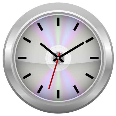 Silver CD / Wall Clock Stock Photo - 7913185