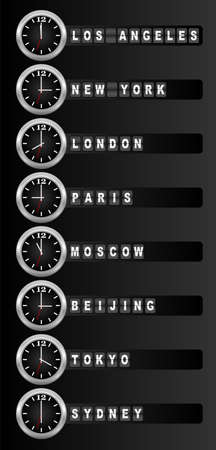 Timezone clock photo