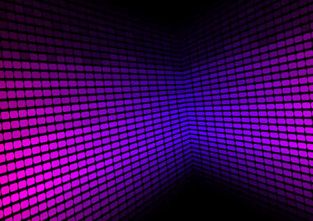 Abstract Background - Violet Equalizer on Black Background Vector