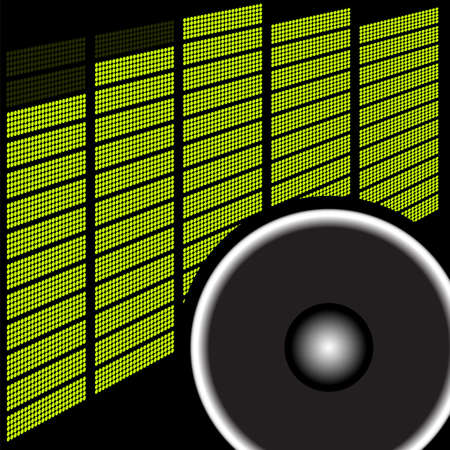 Party Background - Loudspeaker and Graphic Equalizer Vector