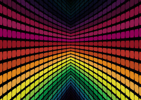 Abstract Background - Multicolor Equalizer on Black Background Vector