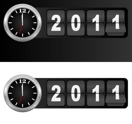 timezone: New Year 2011 Sign Illustration
