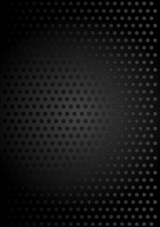 perforating: Black Metallic Background Illustration