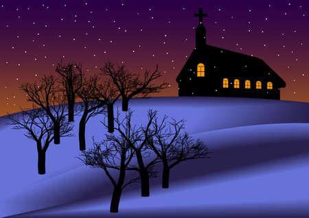 Christmas Night Background Stock Vector - 8242829