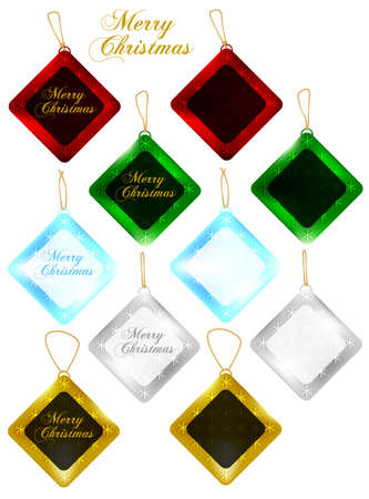 Set of Christmas Gift Tags  Sale Tags Vector
