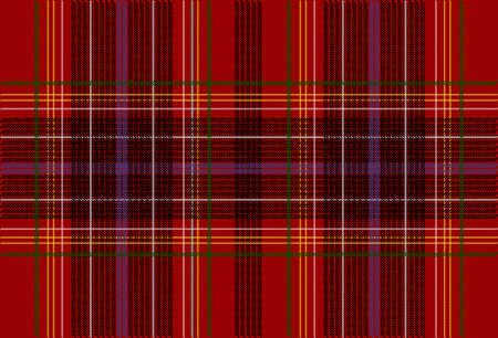 Detail of Seamless Red Tartan Texture Vector