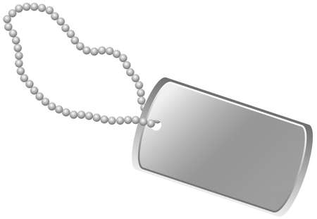 name plate: blank army dogtag