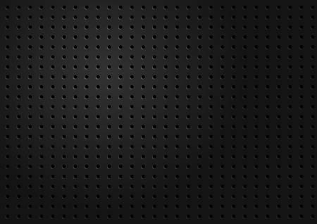 Textura metálico negro Ilustración de vector