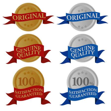 Set of Quality Seals Vector