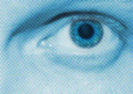 Blue Eye de demi-teinte Banque d'images