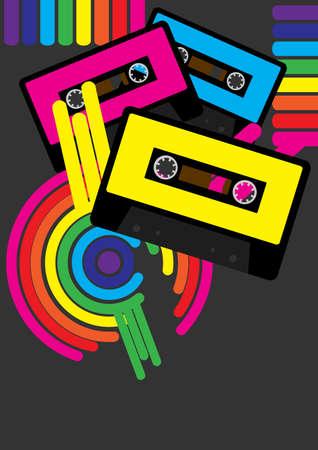cassette tape: Retro Party Background
