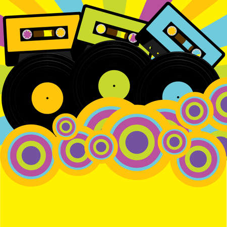 Retro Party Background Stock Vector - 8531200