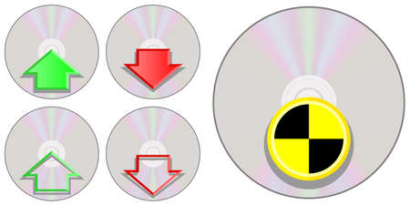 compact disc: CD Compact Disc Icons I Illustration