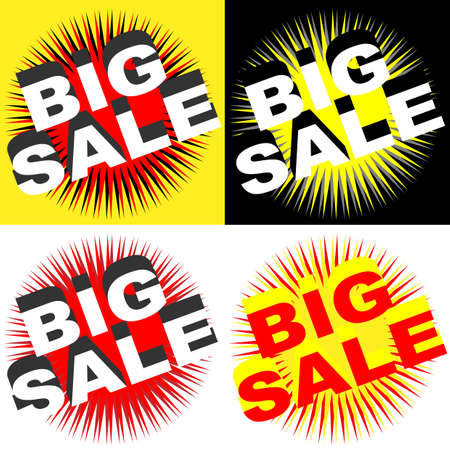 sellout: Retro Big Sale Signs