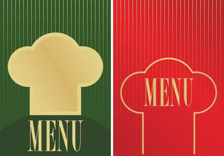 bar table: Menu Cards Illustration