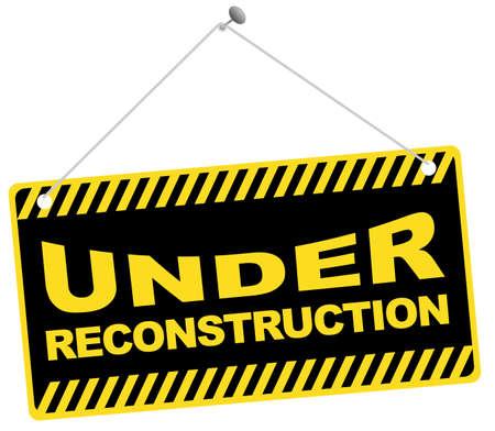 computer problems: Icono de Web-bajo el signo de reconstrucci�n aislado en blanco