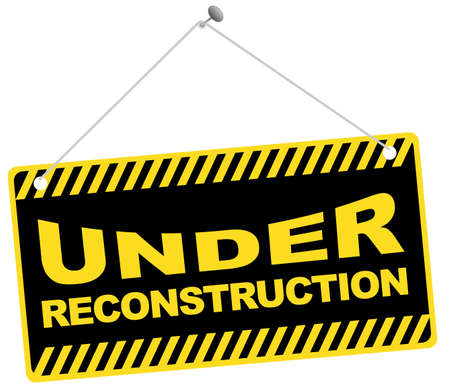 in the reconstruction: Web Icon -Under Reconstruction Sign Isolated on White Illustration