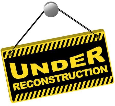 fouten: Web icoon-onder wederopbouw teken geïsoleerd op wit Stock Illustratie