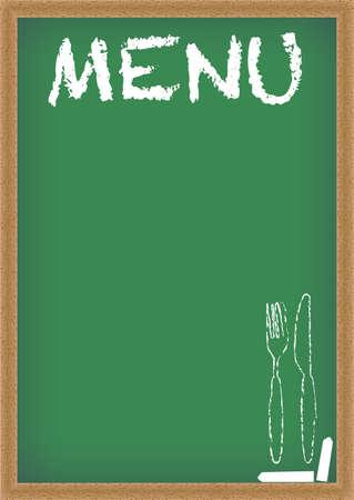 bistro: Menu  Chalkboard  Illustration