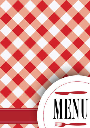 on the tablecloth: Menu Card Design