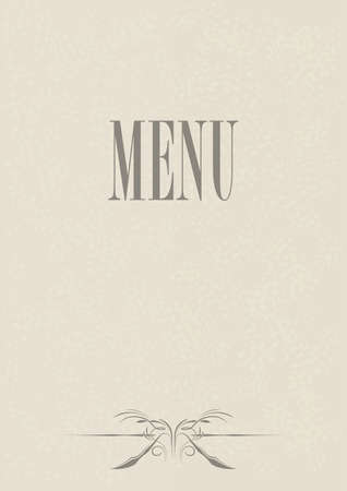 Aged Menu Card Design Stock Vector - 8769639