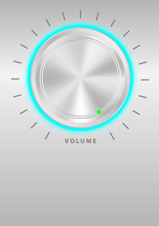 Metallic Volume Knob Stock Vector - 8769642