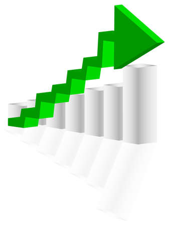 revenue: Green arrow Illustration