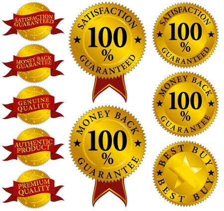 guaranteed: Set of Quality Seals