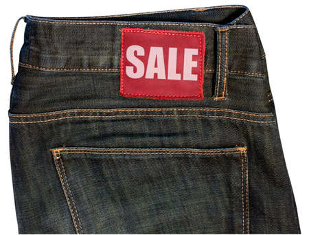 Jeans With Sale Sign photo