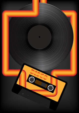 casette: Retro Party Background