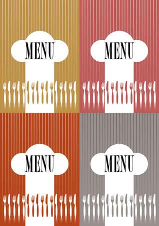 Set of Menu Card Covers Vector