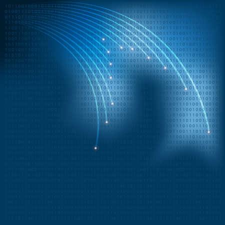 Glowing Optical Fibers Stock Vector - 9043391