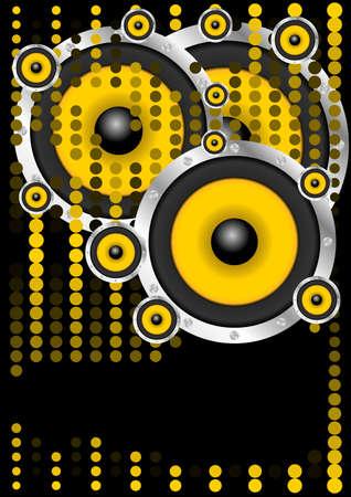 sound system: Fondo partido Vectores