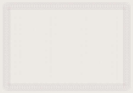 Blank Certificate Template in Shades of Brown Vector