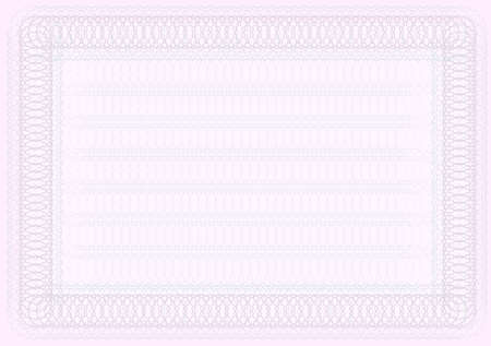 Blank Certificate Template in Shades of Pink Stock Vector - 9605322