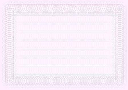 deed: Plantilla de certificado en blanco en tonos de Rosa Vectores