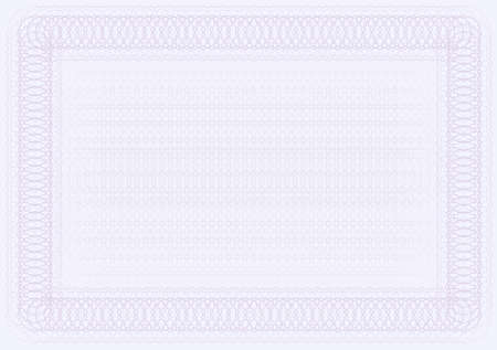 Blank Certificate Template in Shades of Violet Stock Vector - 9605325