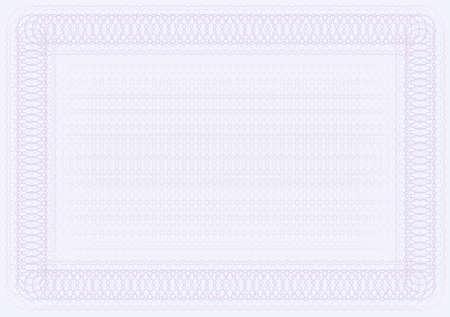 licenciatura: Plantilla de certificado en blanco en tonos violeta Vectores