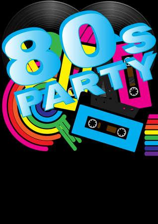 Résumé Contexte - Vintage vinyles, cassettes Audio et 80 Parti signe