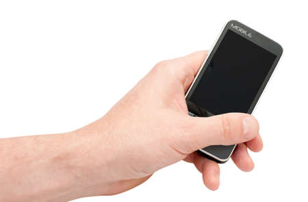 Fictitious Mobile Smartphone in hand Stock Photo - 9727976